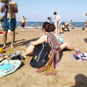 cabanyal beach, valancia, spain