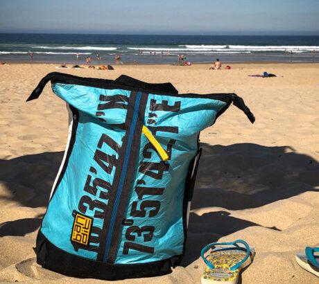Costa de Caparica Portugal - The Lat-long Backpack Blue